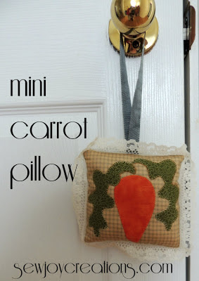 mini carrot pillow tutorial photo