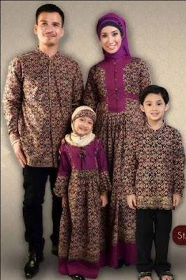 model baju batik muslim anak muslimah