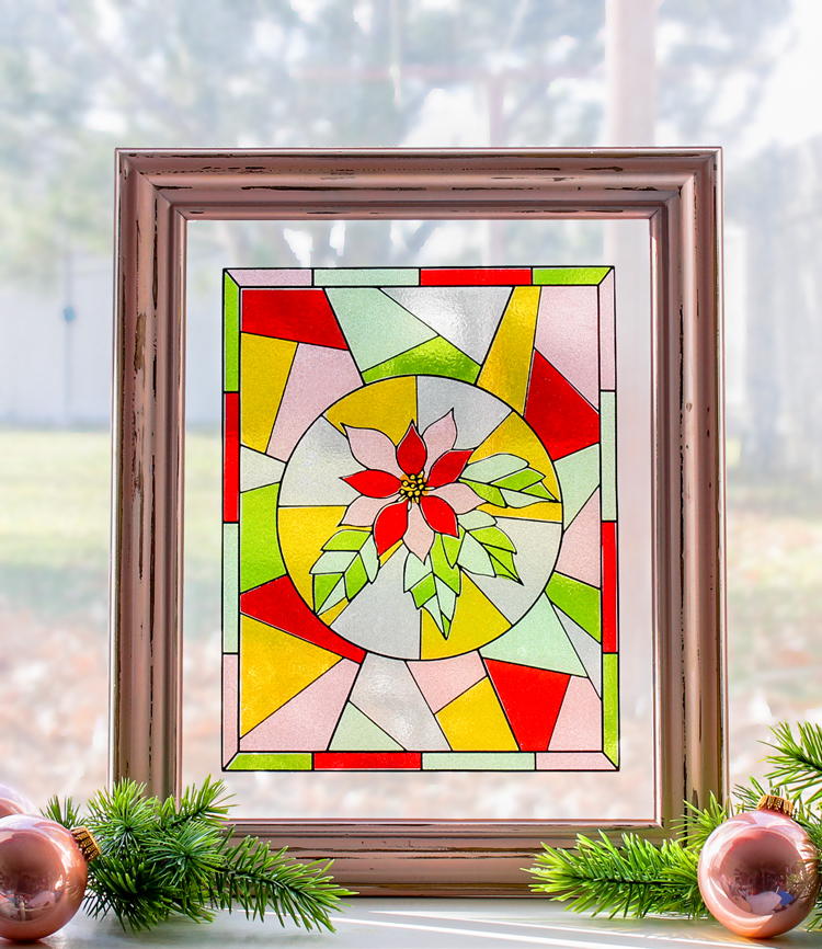 Christmas Craft: Faux Stained Glass Window