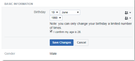 Change Age On Facebook<br/>