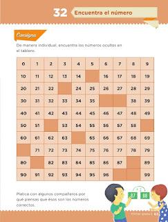 Apoyo Primaria Desafíos matemáticos 1er grado Bimestre 3 lección 32 Encuentra el número