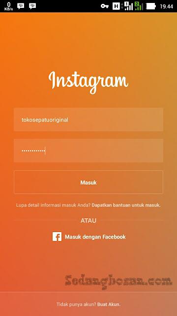 Masukkan Username Dan Password Instagram Sobat Kemudian Klik Masuk