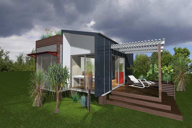 amazing shipping container house plans with white sliding glass door and outdoor patio