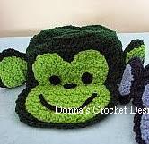 http://donnascrochetdesigns.com/printerfriendlyfive/monkey-hat-free-crochet-pattern.html
