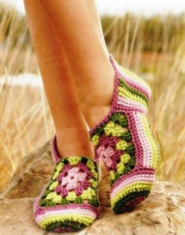 De Todo Crochet Pantuflas