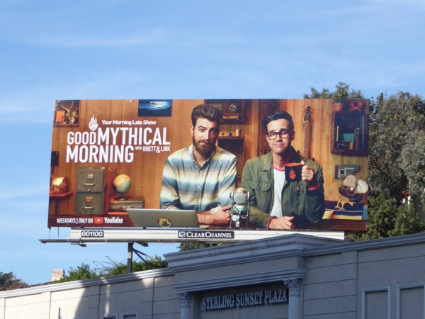 Good Mythical Morning YouTube billboard