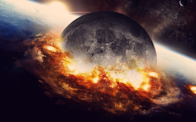 The Birth Of The Moon: Strange Process Identical To Nuclear Explosion