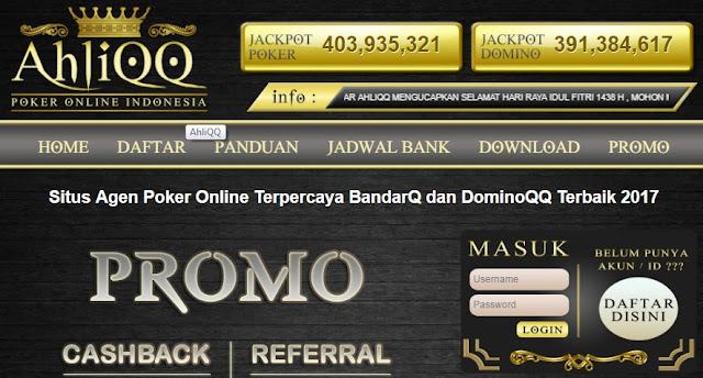Situs Agen Judi Poker Online DominoQQ BandarQ Domino 99