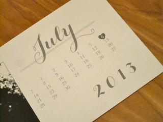 calendar print save date