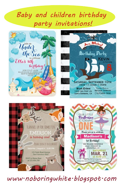 Baby and children birthday party invitations you can buy online