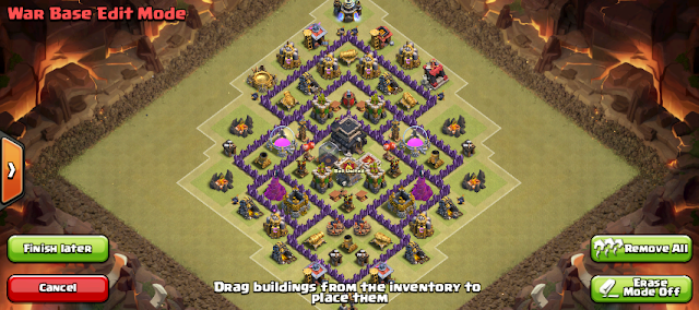 TH level 7 war base terbaru 3 air defense