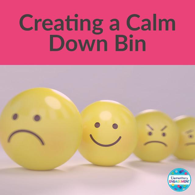 Using a calm down bin in the classroom