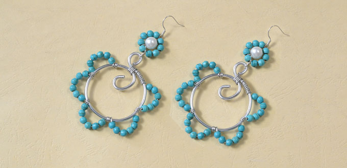 Supplies Needed For Wire Wred Flower Beads Earrings Making