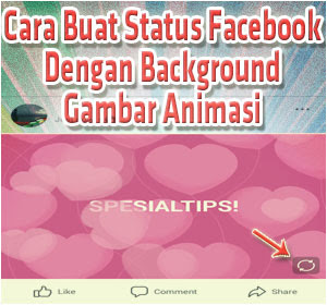 Cara Buat Status Facebook Dengan Background Gambar Animasi