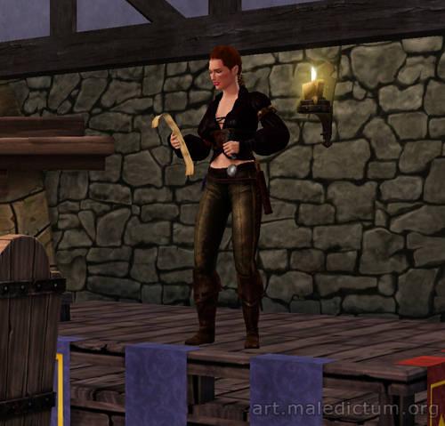 The Sims Medieval - Хуманш-бард на трибуне