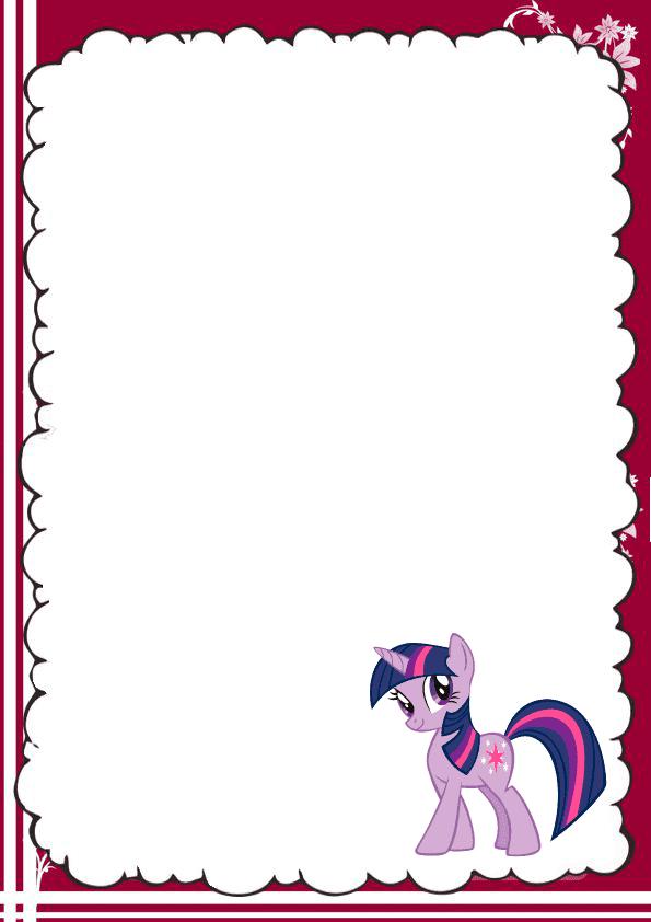 caratula para cuaderno de pony