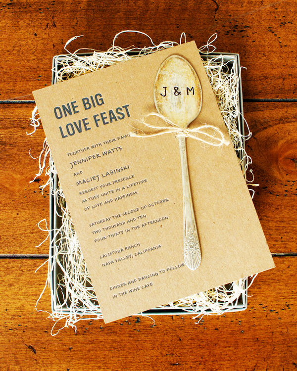Creative Wedding Invitations: Not The Marrying Kind...: Wedding Wednesday: Unique