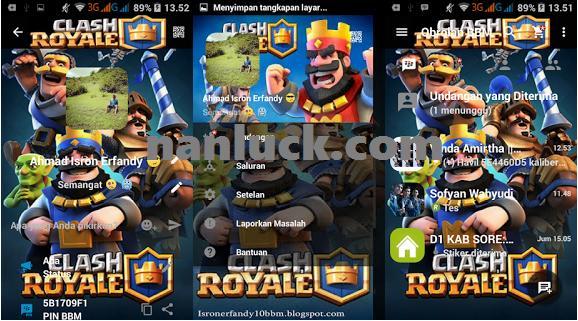 Download BBM Mod Clash Royale Versi 2.13.1.14 Apk Terbaru
