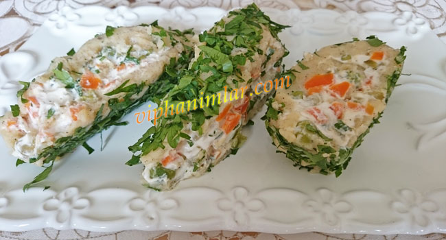 Garnitürlü Rulo Patates Salatası