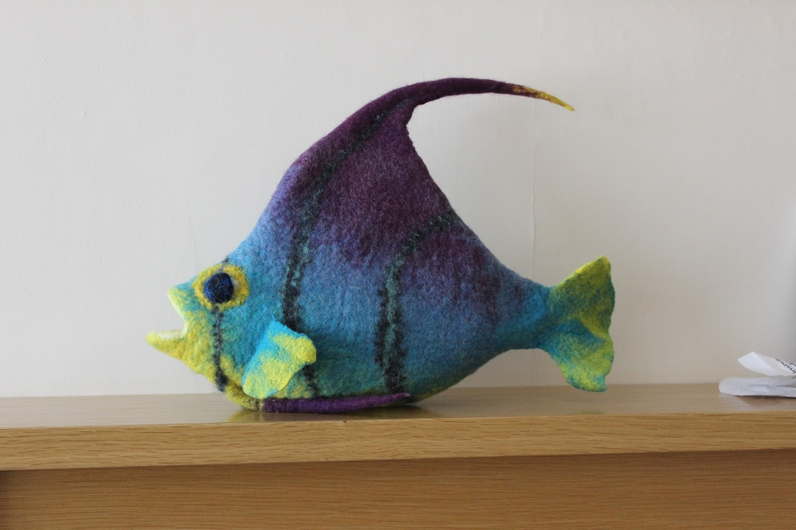 Gone felting fish for P o fish