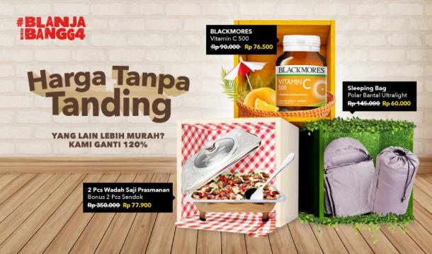 Blanja - Promo Harga Tanpa Tanding & Ganti 120% Jika Lebih Murah (s.d 31 Des 2018)