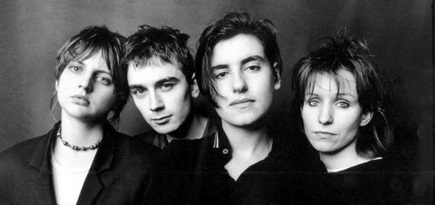Miembros del grupo Elastica en 1995