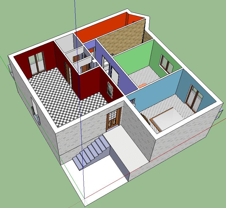 Art shok studio di un appartamento con google sketchup for Disegnare un appartamento