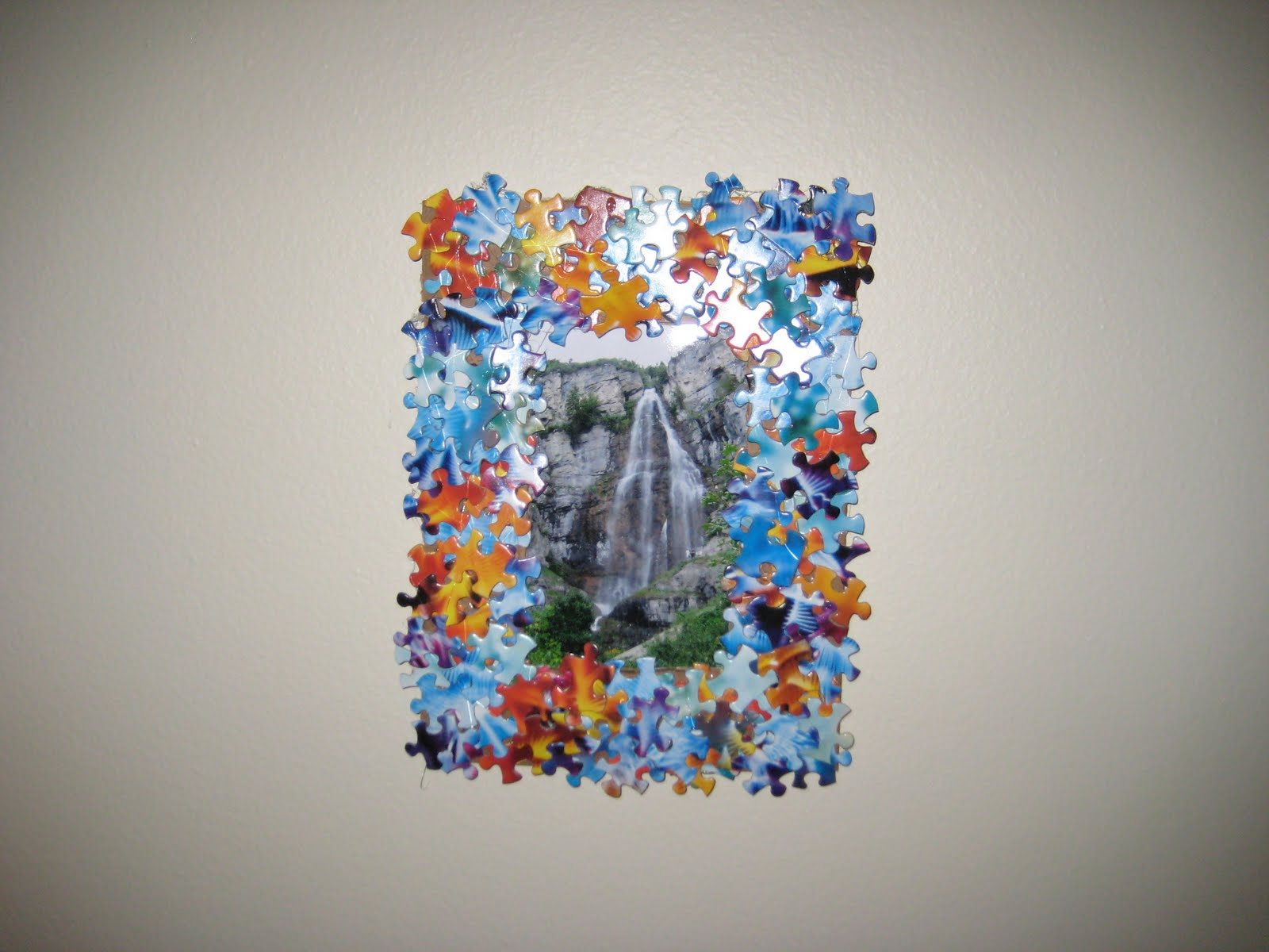 Doodles And Doilies Puzzle Piece Picture Frame Tutorial