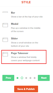 facebook, twitter, pinterest pop up follow buttons blogger