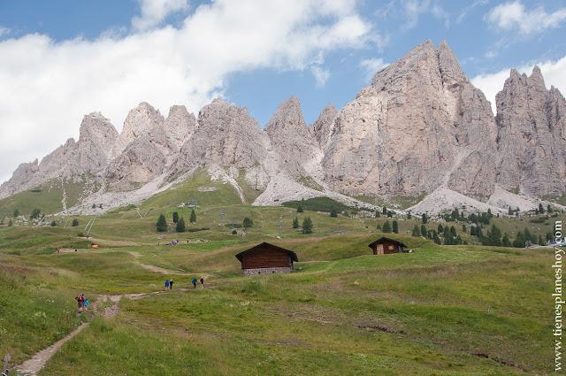 Paisajes Dolomitas Passo di Gardena viaje