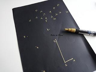 Bulles de Plume DIY Calendrier de l'avent points à relier