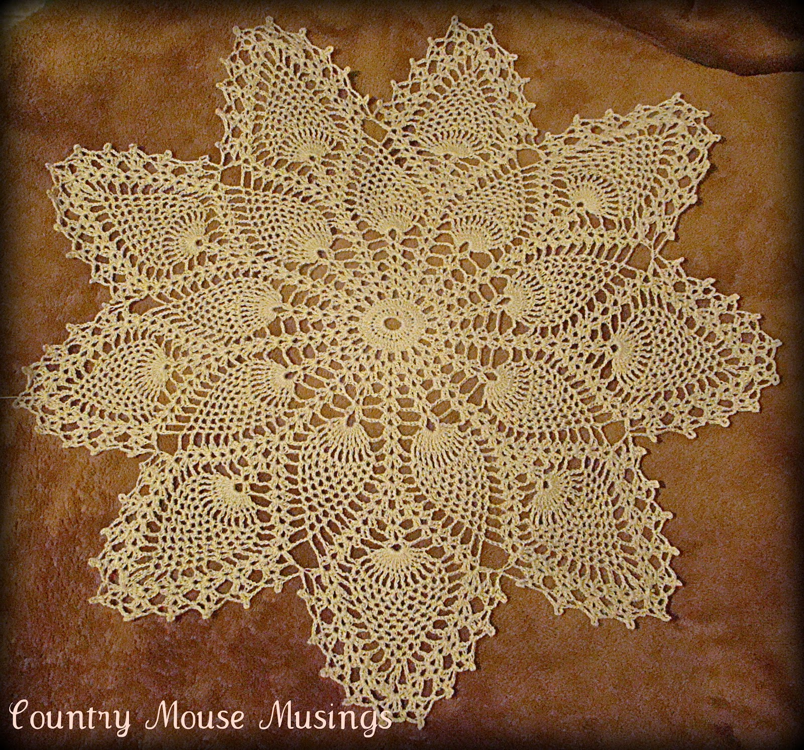 Country Mouse Musings Vintage Pineapple Doily Pattern Set