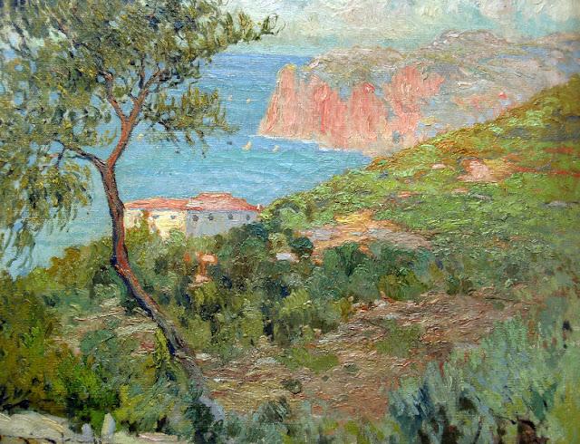 Joaquín Terruella Matilla, Vista de Mallorca, Paisajes de Mallorca, Mallorca en Pintura, Mallorca Pintada, Montañas de Mallorca, Cala Mallorquín, Costa Mallorquina