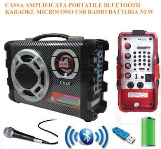cassa bluetooth karaoke mk-b28