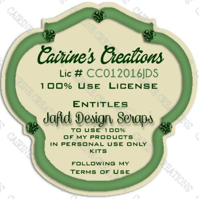Cairine's Creations 100% Use License