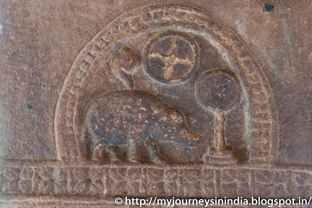 Aihole Durga Gudi Temple Chalukya Emblem