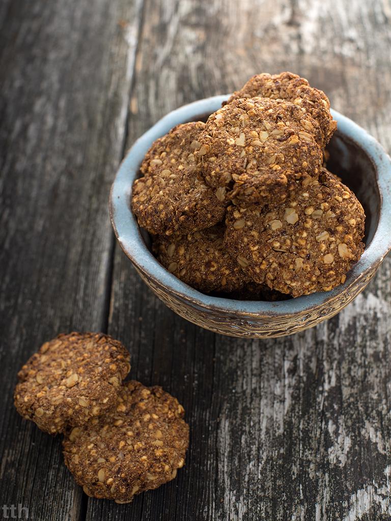 Ciasteczka owsiane migdałowe wegańskie bezcukru bezglutenu blog