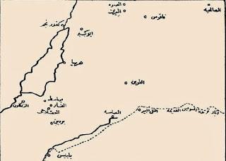 خريطة لمدينة بلبيس والصالحية عام 1800
