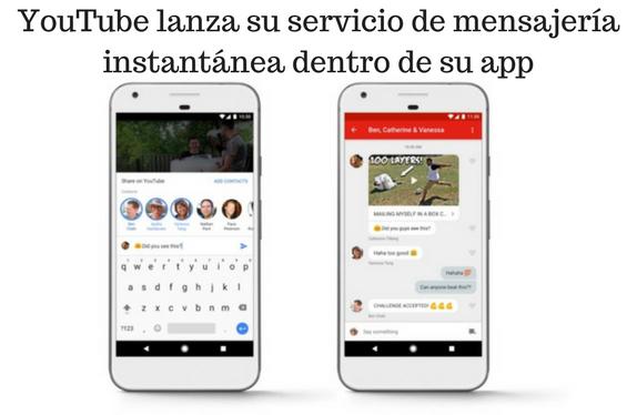 YouTube, VideoMarketing, Mensajería Instantánea,