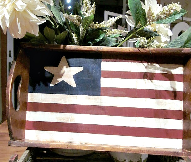 DIY AMerican flag tray