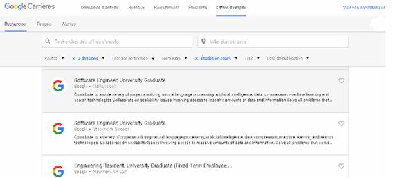سارعوا ايها الطلبة للحصول على تدريب أو وظيفة بدوام كامل في جوجل