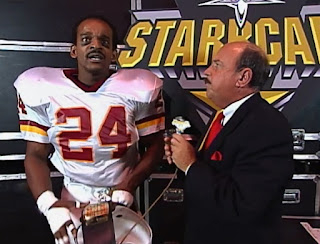 WCW Starrcade 1999 - Mean Gene Okerlund interviewed Screamin' Norman Smiley