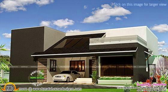 Modern single storied home rendering