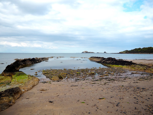 Coast line around East Lothian, Scotland