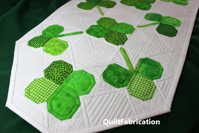Clover Field table runner at the end