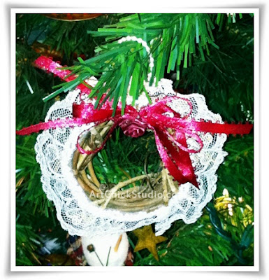 Grapevine Mini Wreath Handmade Ornie