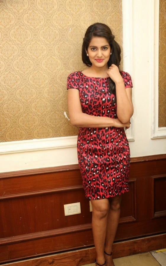 Vishakha Singh Hot Photos In Red Dress