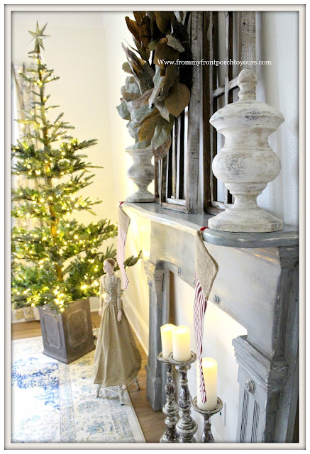 French Country-Christmas Tree- Farmhouse Christmas Bedroom-From My Front Porch To Yours