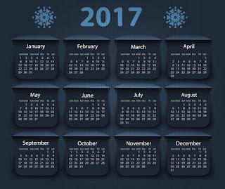 2017カレンダー無料テンプレート148