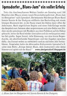 Pressebericht: Blues Jam Igensdorf 2019
